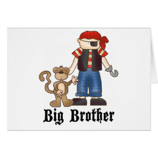Pirate Big Brother Stationery Note Card