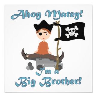 Pirate Big Brother Custom Invitations