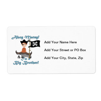 Pirate Big Brother Shipping Label