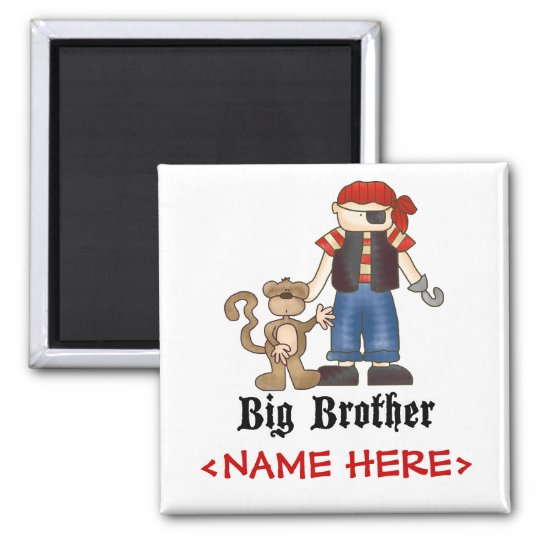 Pirate Big Brother Square Magnet