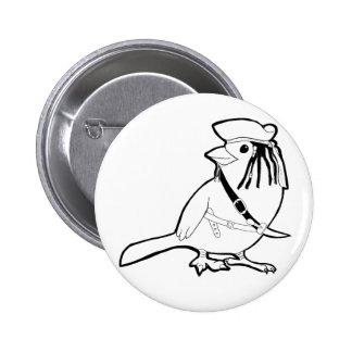 Pirate Bird 6 Cm Round Badge