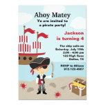 "Pirate BIrthday Invitations 5"" X 7"" Invitation Card"
