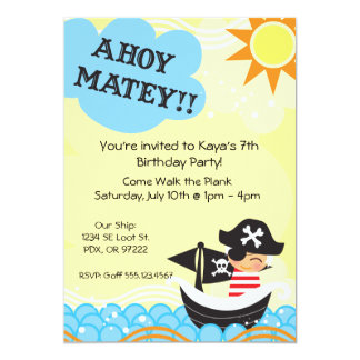 Pirate Birthday Invites