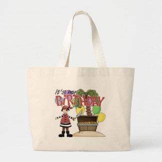 Pirate Birthday Large Tote Bag