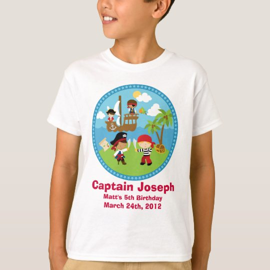 Pirate Birthday Party Personalised Shirts - Unique