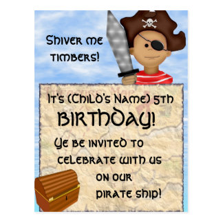 Pirate Birthday Party Postcards
