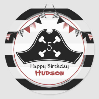 Pirate Birthday Party Sticker