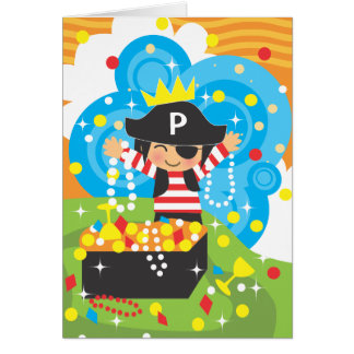 Pirate Birthday Thank You Notecard Stationery Note Card
