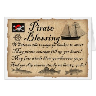 Pirate Blessing Birthday Card