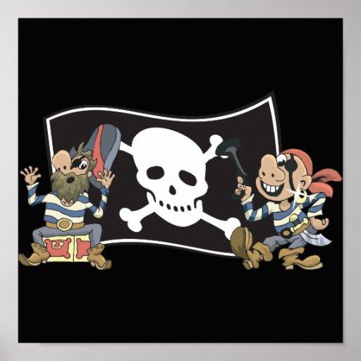 Pirate Blokes Poster