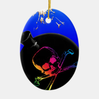 pirate bomb christmas ornament