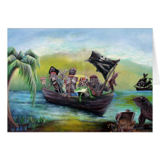 Pirate Booty Beach Greeting Card