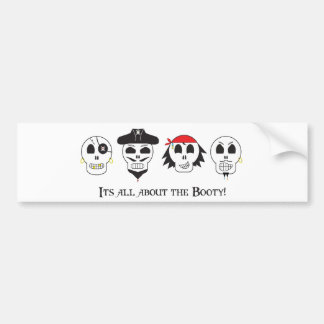 Pirate Booty Bumper Sticker