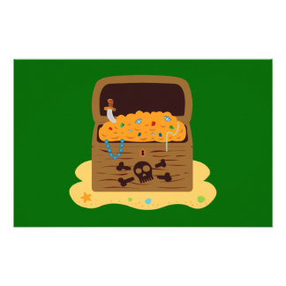 Pirate Booty Treasure Chest Personalised Stationery