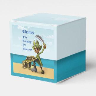 """Pirate Boy Birthday Favor Box Classic 2x2"" Wedding Favour Box"