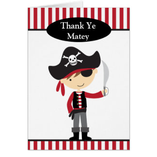 Pirate Boy Note Cards