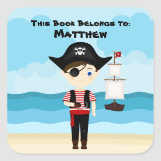 Pirate Boy Square Sticker