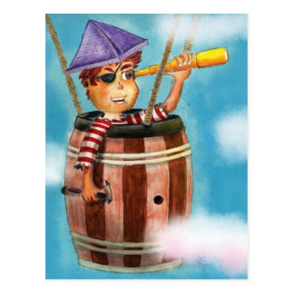 Pirate Boy Travelling Post Card