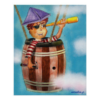 Pirate Boy Travelling Poster