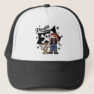 Pirate Boy with  Monkey Trucker Hat