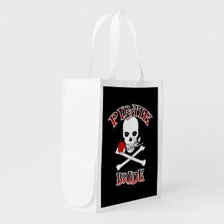 Pirate Bride Reusable Shopping Bag