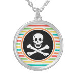 Pirate, Bright Rainbow Stripes Necklace
