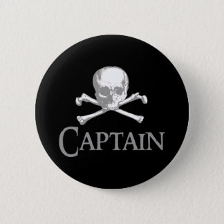 Pirate Captain 6 Cm Round Badge