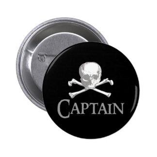 Pirate Captain 6 Cm Round Badge