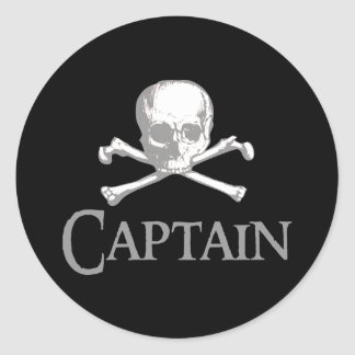 Pirate Captain Classic Round Sticker