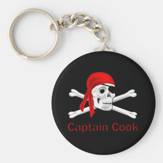 Pirate Captain Cook Keychain