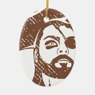 Pirate Captain grunge Christmas Ornament