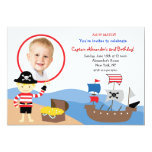 Pirate Captain Photo Birthday Party Invitations