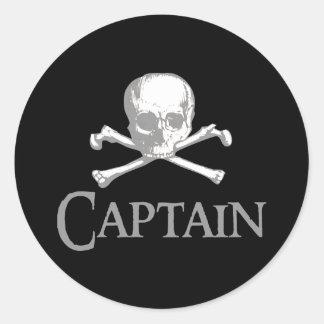 Pirate Captain Round Sticker
