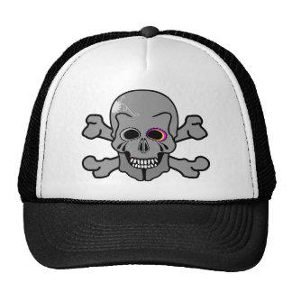 Pirate captain skull and Cross bones Mesh Hat