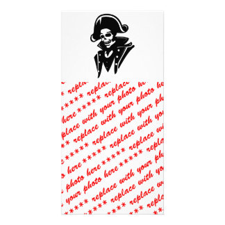 Pirate Captain Skull Custom Photo Card