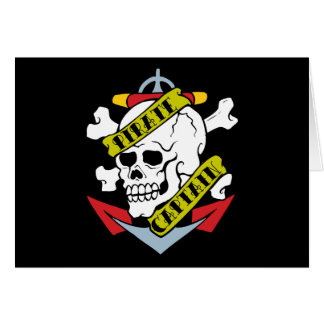 Pirate Captain Tattoo Greeting Cards