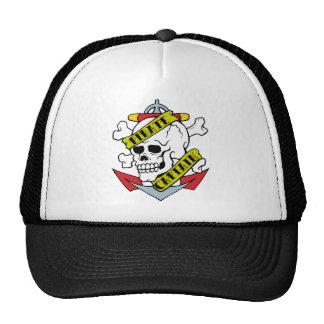 Pirate Captain Tattoo Trucker Hats