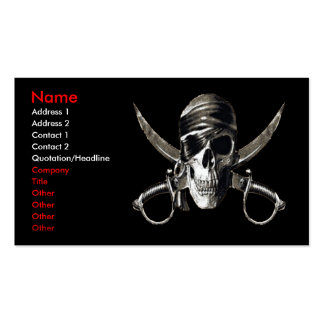 Pirate Card 2 - (no fishts on it) Business Card Template