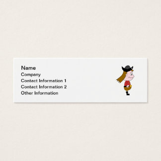 Pirate Cartoon Character. Mini Business Card