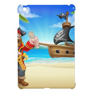 Pirate Cartoon Character on Beach iPad Mini Case