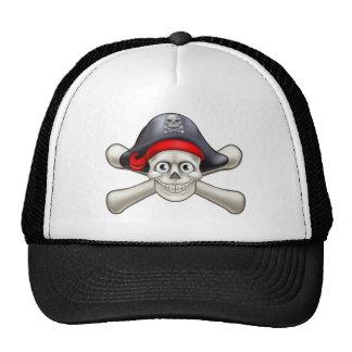 Pirate Cartoon Skull and Crossbones Cap