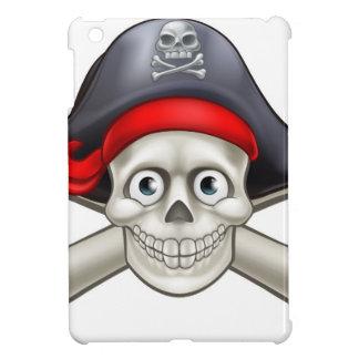 Pirate Cartoon Skull and Crossbones iPad Mini Cases