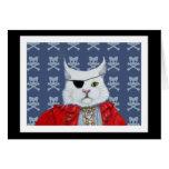 Pirate Cat Blank Card