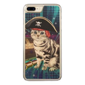 pirate cat carved iPhone 8 plus/7 plus case