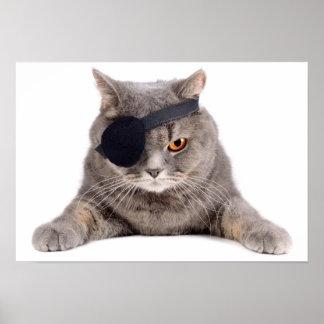 Pirate Cat Print