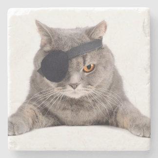 Pirate Cat Stone Coaster