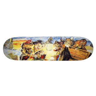 Pirate Cats Find The Loot Skateboard