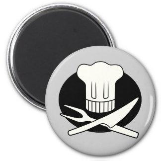 Pirate Chef 6 Cm Round Magnet