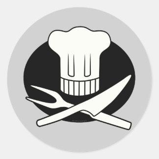Pirate Chef Round Sticker