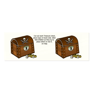 Pirate Chest Game Pieces Business Card